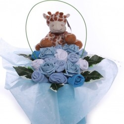 Baby Clothing Bouquet Arrangement With Soft Rattle.