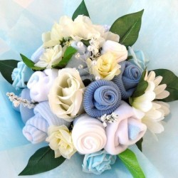 Baby Clothing Bouquet For A Baby Boy.