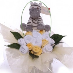 Unisex Zebra Baby Clothing Arrangement.