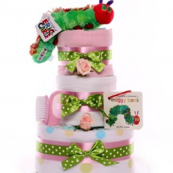 The Very Hungry Caterpillar Baby Girl Nappy Cake.