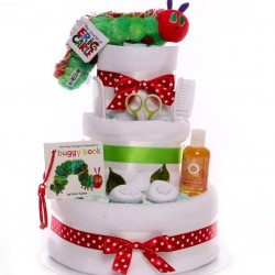 The Very Hungry Caterpillar Neutral Nappy Cake.