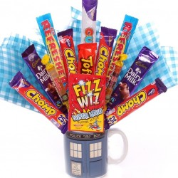 Dr Who Mug With Sweet Inside Made Into A Sweet Bouquet.