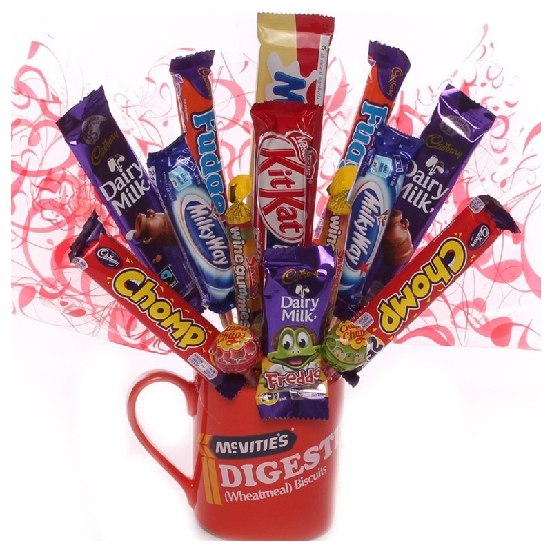 Novelty Chocolate Gift Idea-Chocolate Bouquet In a Digestive Mug.  sc 1 st  My Kind Of Gift & Novelty Chocolate Gift Idea-Chocolate Bouquet In a Digestive Mug.