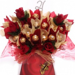 21st Ferrero Rocher Chocolate Hamper Bouquet.