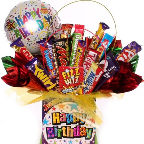 Birthday Chocolate Bouquet With Balloon.