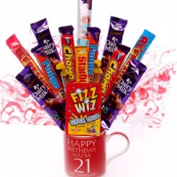 21st Birthday Mug Chocolate Bouquet