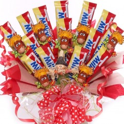 Milky Bar Chocolate Bouquet With Milk Chocolate Horses.