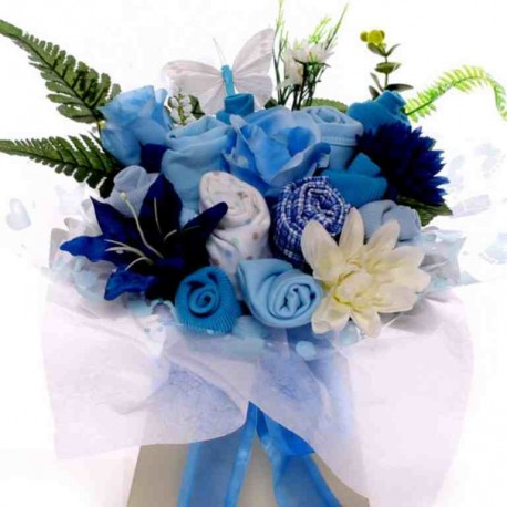 Baby Boy Clothing Bouquet With Pyjamas.