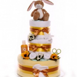 Little Nut Hare Nappy Cake.