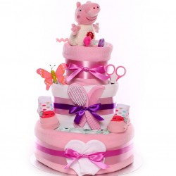 Peppa Pig Nappy Cake Baby Girl.