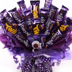 Large Cadbury Chocolate Bar Bouquet.