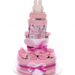 Little Star Nappy Cake Baby Girl Three Tier.
