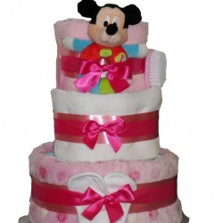 Mickey Mouse Nappy Cake Baby Girl.