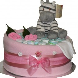 Zebra One Tier Nappy Cake
