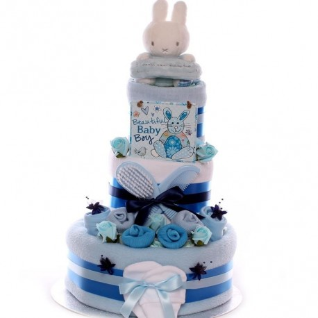 Miffy Nappy Cake Three Tier Baby Boy.