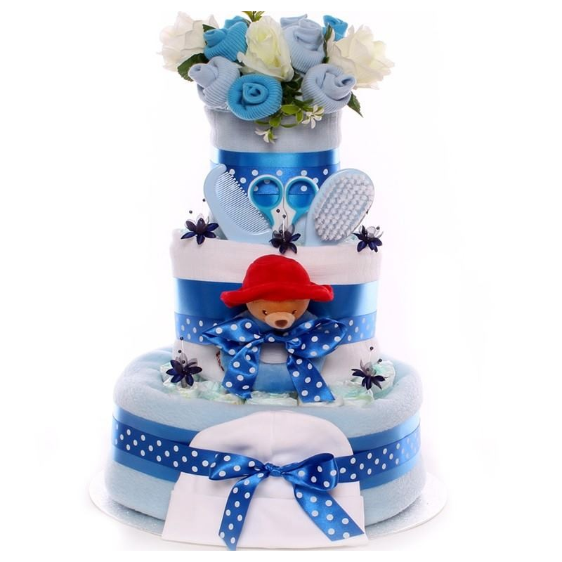 how to make a baby boy nappy cake