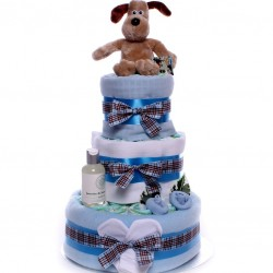 Gromit Nappy Cake - Luxury Three Tier Nappy Cake Gift