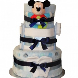 Mickey Mouse Nappy Cake Baby Boy Gift.