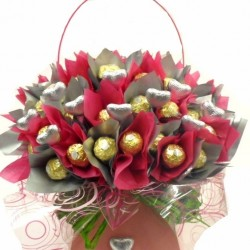 Chocolate Flowers Ferrero Rocher Bouquet.