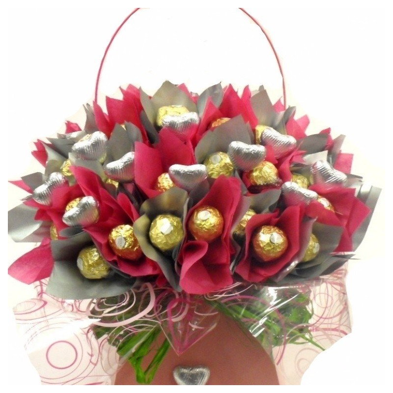 Chocolate Flowers Bouquet | Chocolate Florist Bouquet | Rocher Bouquet