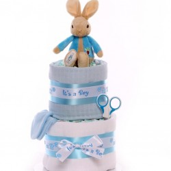 Peter Rabbit Nappy Cake Budget Baby Gift.