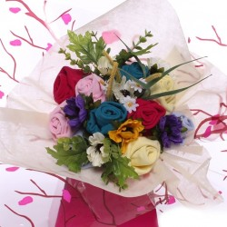 Ladies Sock Bouquet - Colourful Breeze