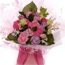 Ladies Sock Bouquet - Wise Owl