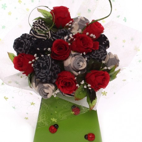 Laides Sock Bouquet - Red Rose