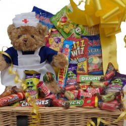Get Well Sweet Hamper With Nurse Teddy.