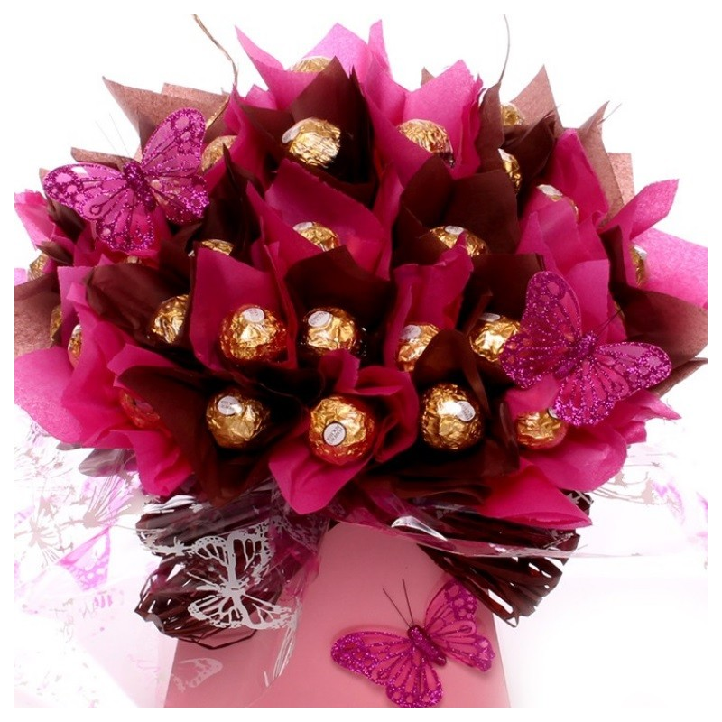 Large Ferrero Rocher Bouquet | Luxury Chocolate Gift Bouquet And Flowers