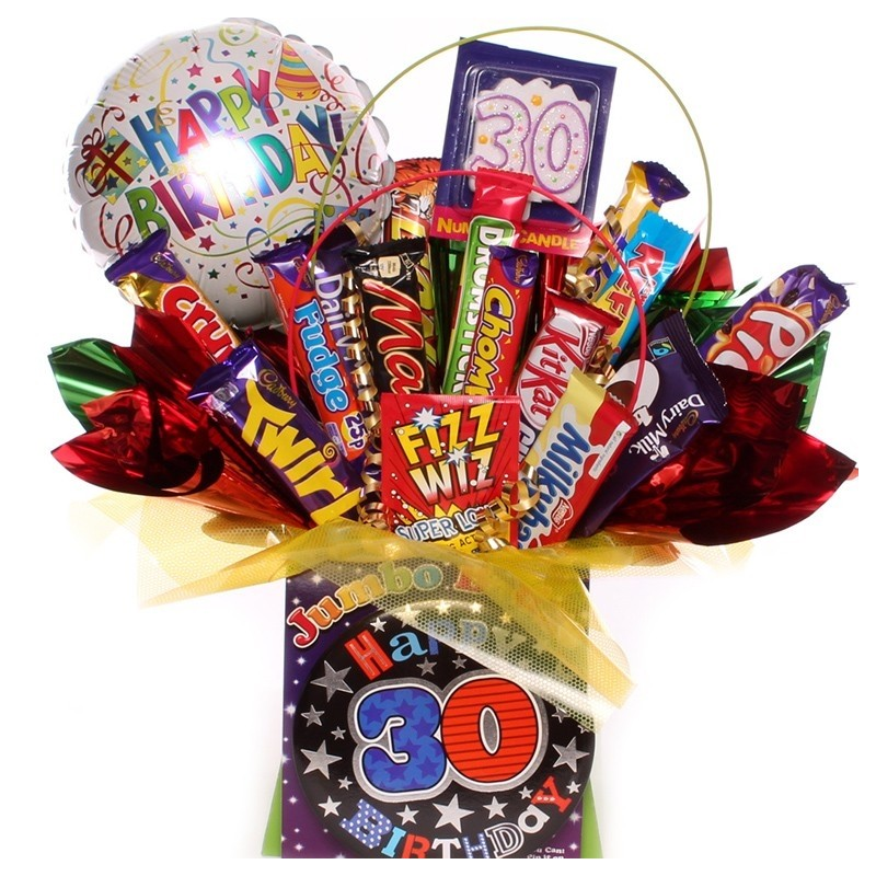 30th Birthday Chocolate Bouquet For Him