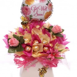 Luxury Get Well Ferrero Rocher Chocolate Bouquet.