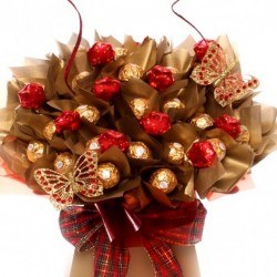 Luxury Ferrero Rocher Chocolate Bouquet with Milk Chocolate Stars.