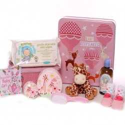 Baby Keepsakes Baby Girl Gift Tin