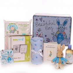 Beautiful Baby Boy Gift Tin Hamper Gift