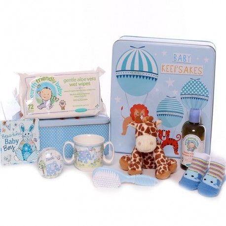 Baby Keepsake Gift Tin Hamper - Baby Boy