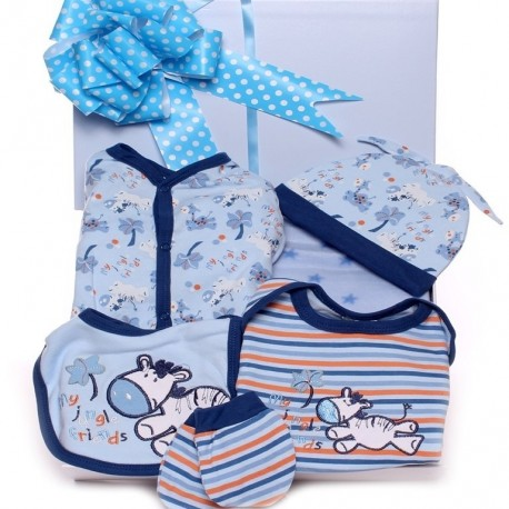 Baby Gift Box With Zebra Outfit - new baby gift