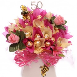 50th Ferero Rocher Chocolate Bouquet Luxury 50th Birthday Gift