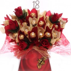 18th Ferrero Rocher Chocolate Bouquet Luxury Gift.
