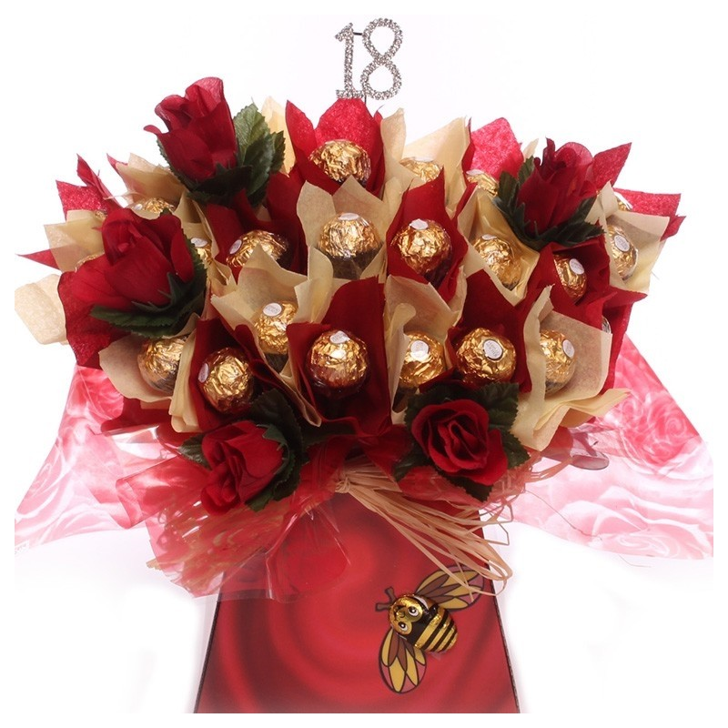 18th Ferrero Rocher Chocolate Bouquet |Chocolate bouquet 18th birthday
