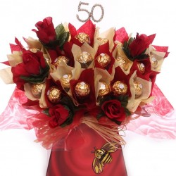 50th Luxury Ferrero Rocher chocolate bouquet