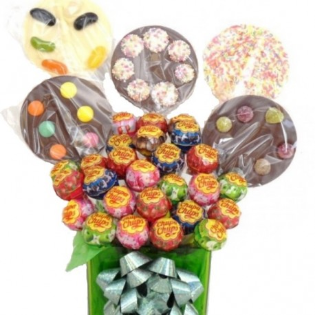 Lollie bouquet with Chupa Chups and Chocolate Lollies.