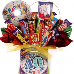 40th Birthday Chocolate Bouquet For Him.