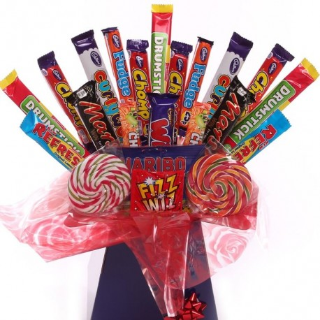 Sweet and Chocolate Bar Bouquet.