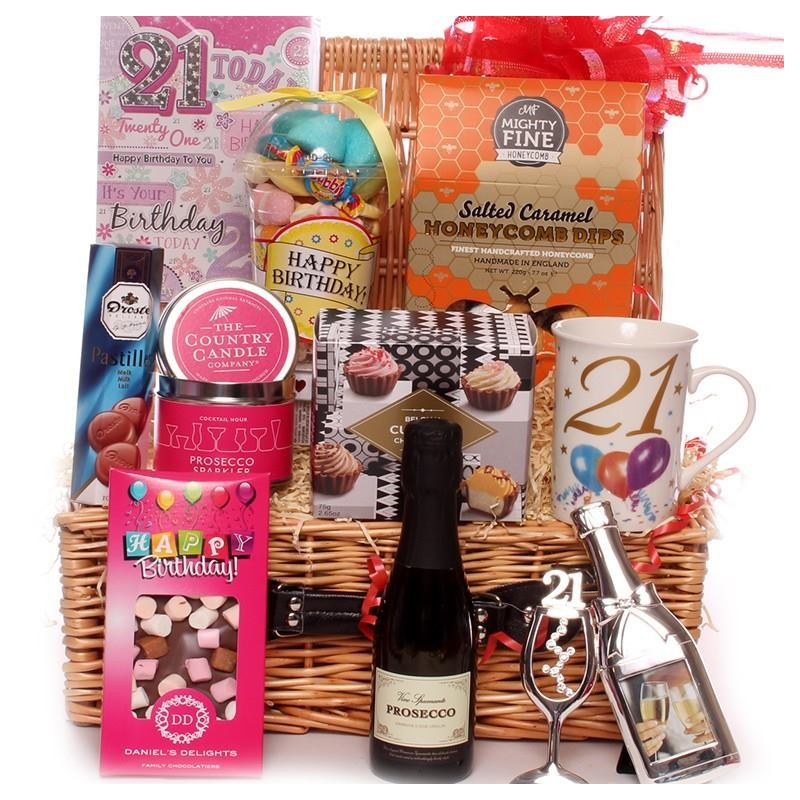 21st Hamper With Keepsake 21st Gifts, Fine