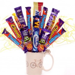 Cyclisty Mug with Chocolate Bouquet.
