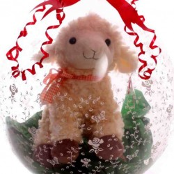 Lamb Soft Toy Inside a Gift Balloon.