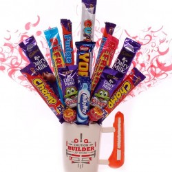 Builders Mug With Chocolate Bouquet