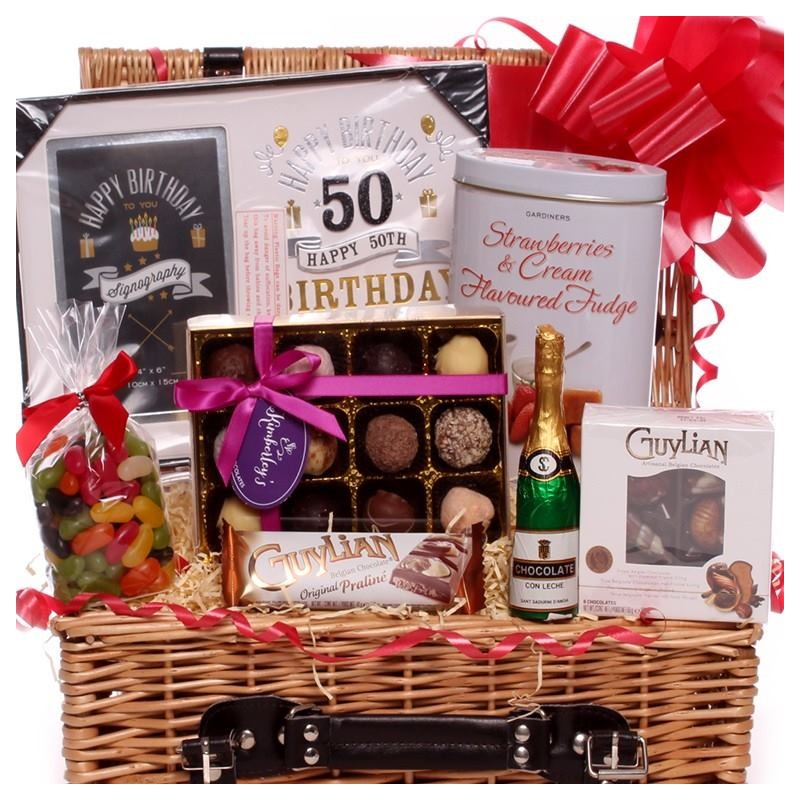 50th Birthday Gift Basket For Men: Gift Basket Ideas For 50th Birthday