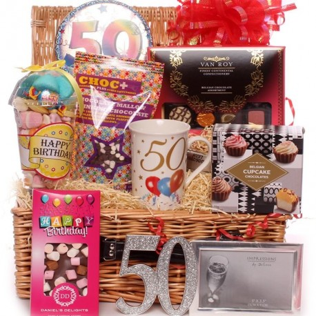 50th Birthday Hamper Gift Luxury